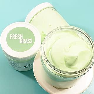 Fresh Cut Grass Natural Body Butter. Whipped Handmade Lotion. Summertime Bath & Body Gifts