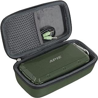Hermitshell Hard EVA Travel Case Fits APIE Portable Wireless Outdoor Bluetooth Speaker IPX6 Waterproof Dual 10W Driversf (Green)