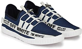 Gubatti Mens Casual Sneakers Off Black/Blue/RED Shoes