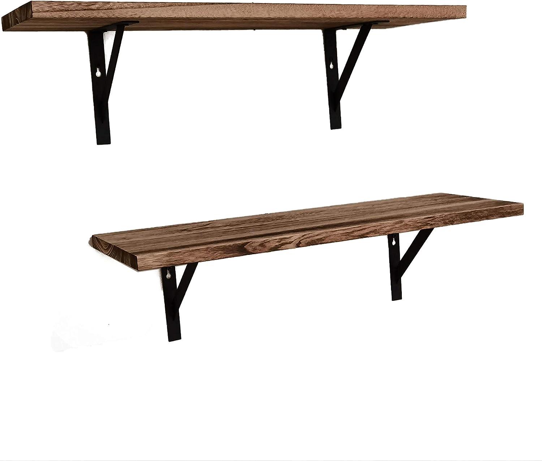 ALEKO Rustic Wood Wall Mount 激安通販専門店 Storage - of Set 送料無料 激安 お買い得 キ゛フト Shelves 2