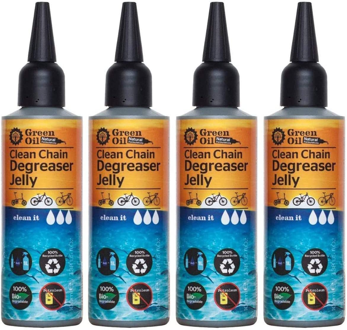 Green Oil Clean Chain Cycle Super special price Natu Biodegradable Jelly Degreaser Max 78% OFF