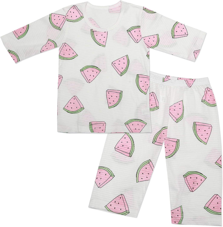 MiNi-K Baby Boys & Girls Toddler Unisex Kids Cotton100% Sleepwear Pajamas 3/4 Sleeve 2 Pcs Set