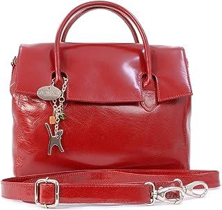Catwalk Collection Handbags Leder - Organizer/Handtasche mit Schultergurt - iPad/Tablet - Vintage Leder - Handtasche mit Schultergurt -ELLA