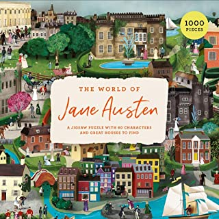 The World of Jane Austen: A 1000 Piece Jigsaw Puzzle with 60 Characters and Great Houses to Find