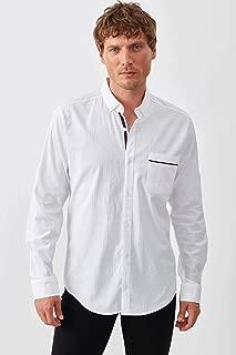 Manche Beyaz Tek Cep Extraforlu Armür Gömlek | ME19S112094