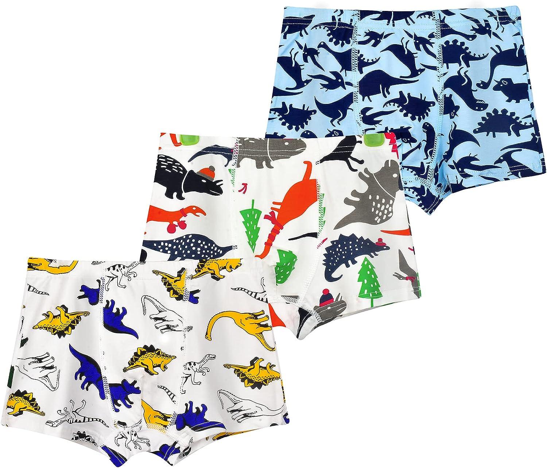 Durio Toddler Boy Underwear Soft Little Boy Underwear Little Boys Boxer Briefs Dinosaur Toddler Boys Boxer Briefs