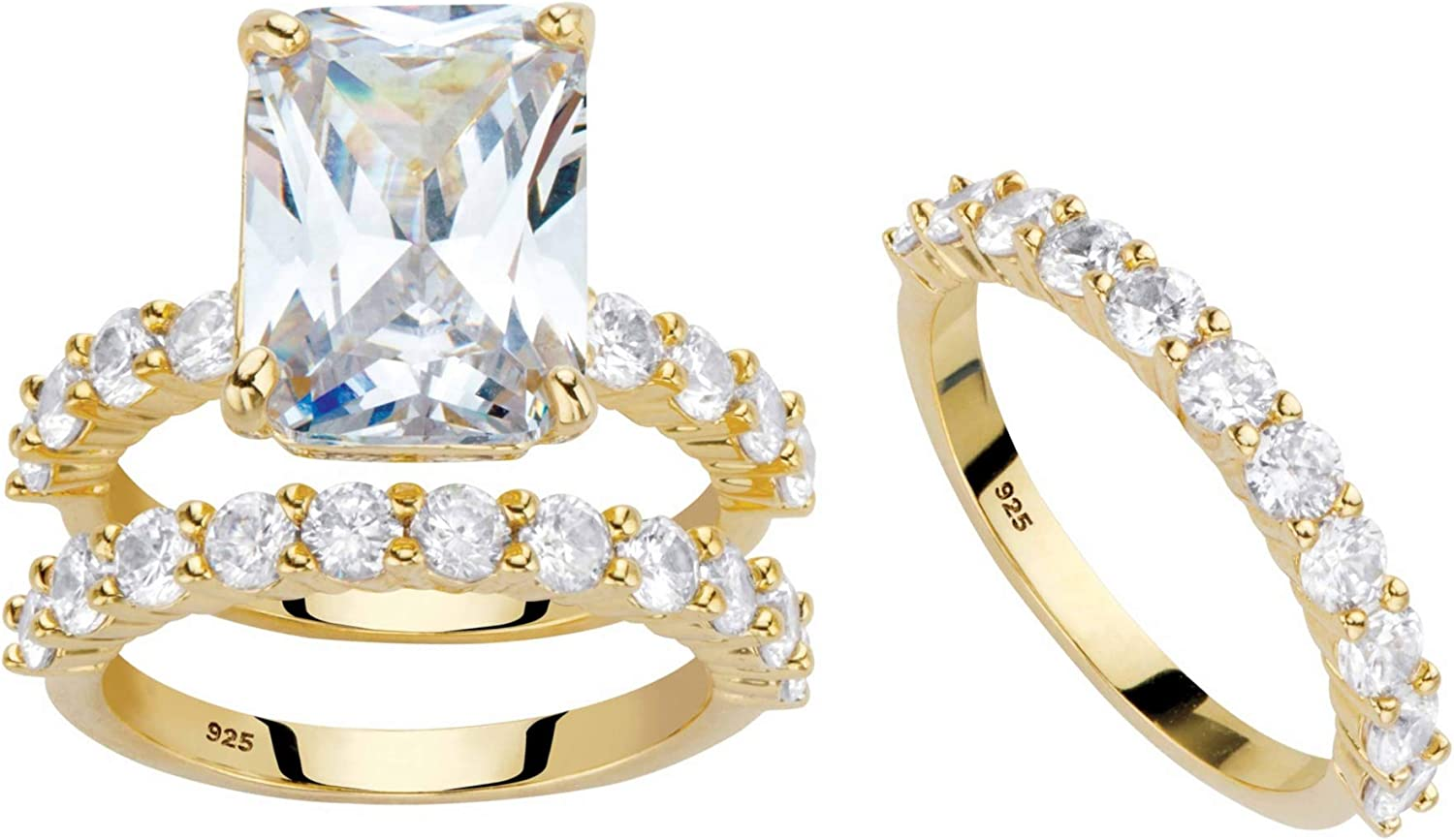 Palm Max 74% OFF Beach Jewelry 14k Gold Over Emerald Zirc Translated Sterling Cut Cubic