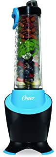 Oster MyBlend Pro Series Personal Blender with Condensation Free Bottle, Travel Clip and 4 Reusable Straws, Red, BLSTPB2-GTL, Grey/Teal