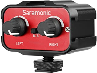 DSLR Audio Adapter,Saramonic SR- AX100 Microphone Audio...