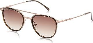 نظارة شمسية بيضوية الشكل للرجال بتصميم كاجوال انيق من لاكوست بلون نحاسي