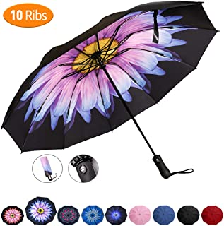 Best windproof reverse folding double layer inverted umbrella Reviews