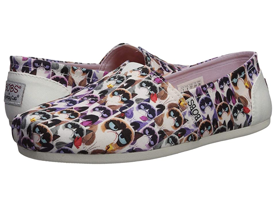 BOBS from SKECHERS Bobs Plush (White/Multi) Women