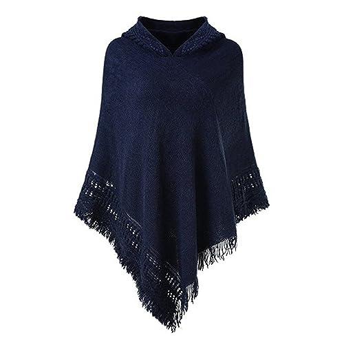 Hooded Sweater Poncho Amazoncom