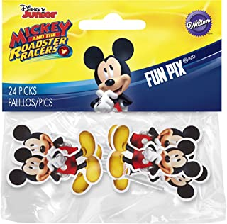 Wilton 2113-7108 24 Count Mickey and The Roadster Racers Fun Pix, Assorted