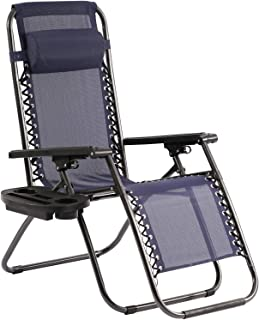 Zero Gravity Chair Patio Lounge Chairs Lounge Patio Chaise 1 Pack Adjustable Reliners for Pool Yard with Cup Holder