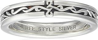 [FREE STYLE] FREE STYLE 阿拉伯十字架银戒指 黑色