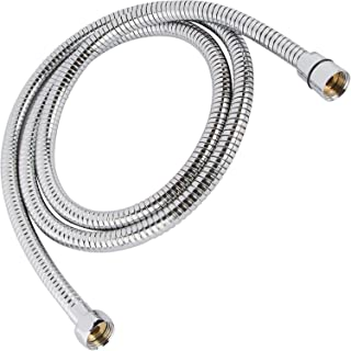 Flexible 304 Stainless Steel Shower Hose - Universal Fit - Fits All Handheld Shower Heads, Sprayers, And Bidet Sprayers (Not Included) - Real 304 Stainless Steel (1, 6 ft)