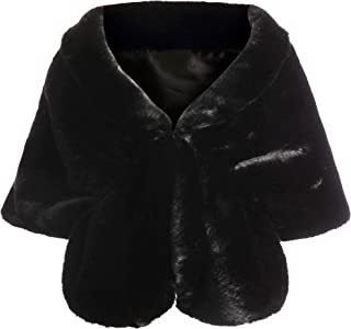 Coucoland Art Fur Scarf Women's Fluffy Faux Fur Wrap Cover Warm Collar for Winter Coat 1920s Accessories Gatsby Costume Accessories