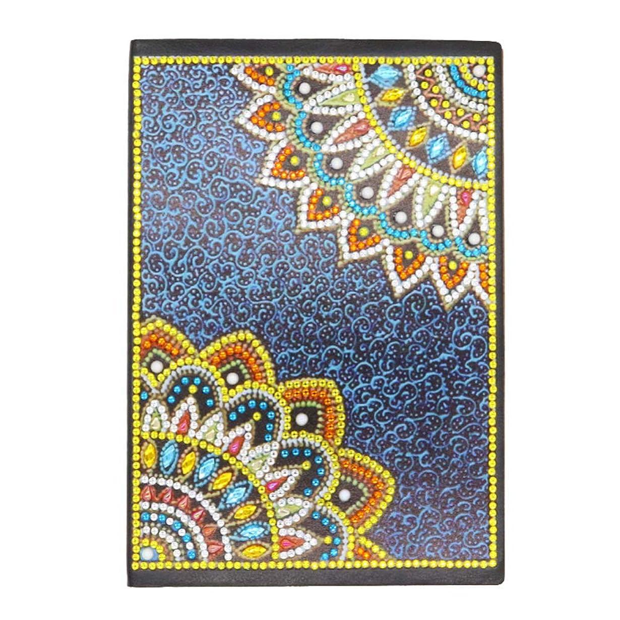 Healifty カラフルなダイヤモンド塗装ノートブックa5ライティングジャーナルノート日記ノートブック用クリスマスウェディングギフトbj011