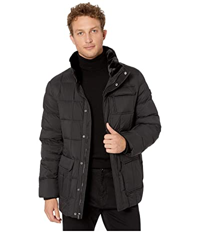Tumi Puffer Box Quilt Jacket (Black) Men
