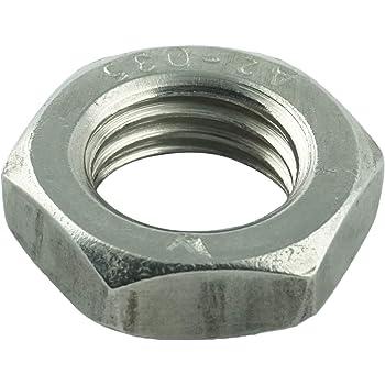 20 St/ück Edelstahl A2 - DIN 439 D/´s Items/® Halbmuttern - Sechskant-Muttern niedrig, mit Fase - M3 Kontermuttern Flachmuttern V2A