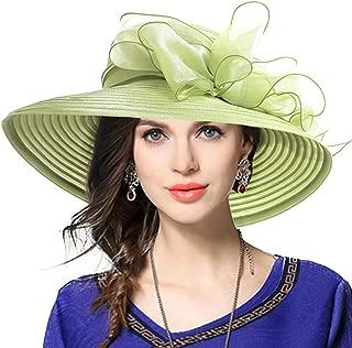 VECRY Lady Derby Dress Church Cloche Hat Bow Bucket Wedding Bowler Hats
