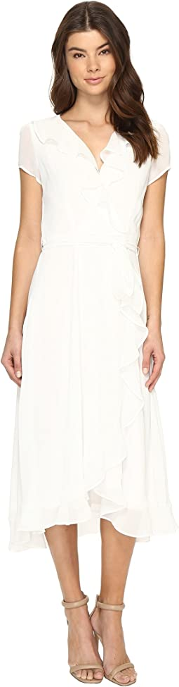 Christin Michaels - Adela Short Sleeve Ruffle Dress