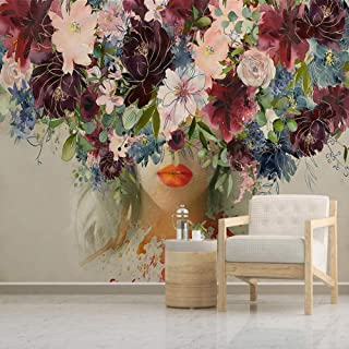 Wywqn Modern Custom 3D Mural Wallpaper Hand Painted Watercolor Rose Flower Picture Picture Wall Art Painting Living Room Stickers-450cmx300cm