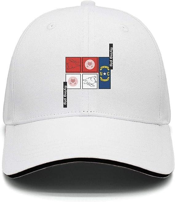 North Carolina Flag Hockey Baseball Hat Adjustable Jeans Cap Dad Hat