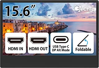 Gechic M505E 15.6 inch FHD 1080p Portable Monitor with USB Type-C Input, HDMI Input/Output, DC-in Port, Daisy Chain Displa...