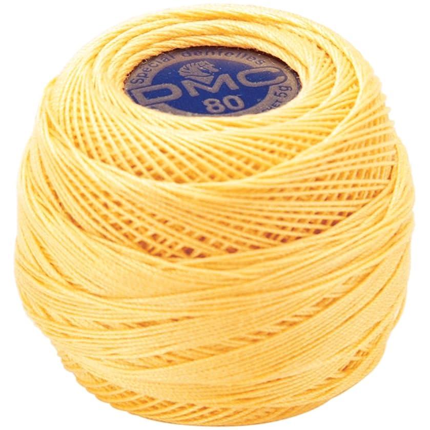 DMC 19-744 Brilliant Tatting Cotton, 106-Yard, Size 80, Pale Yellow
