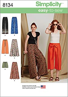 Simplicity 8134 Easy to Sew Women's Pants and Shorts Sewing Patterns, Sizes 14-22