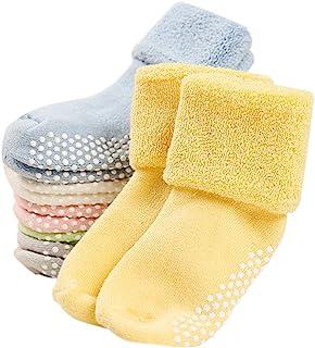 جوراب های کودک VWU 6 Pack با جوراب ضد پنبه ضخیم پنبه ضخیم 0-3 ساله