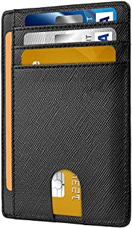 Dlife Slim Wallet RFID Front Pocket Wallet Minimalist Secure Thin Credit Card Holder (Black)