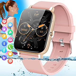 Amokeoo Smart Watch,Fitness Watch Tracker with Heart Rate Blood Pressure Monitor IP67 Waterproof...