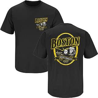 Boston Hockey Fans. Boston A Drinking Town with A Hockey Problem Black T-Shirt (Sm-5X)