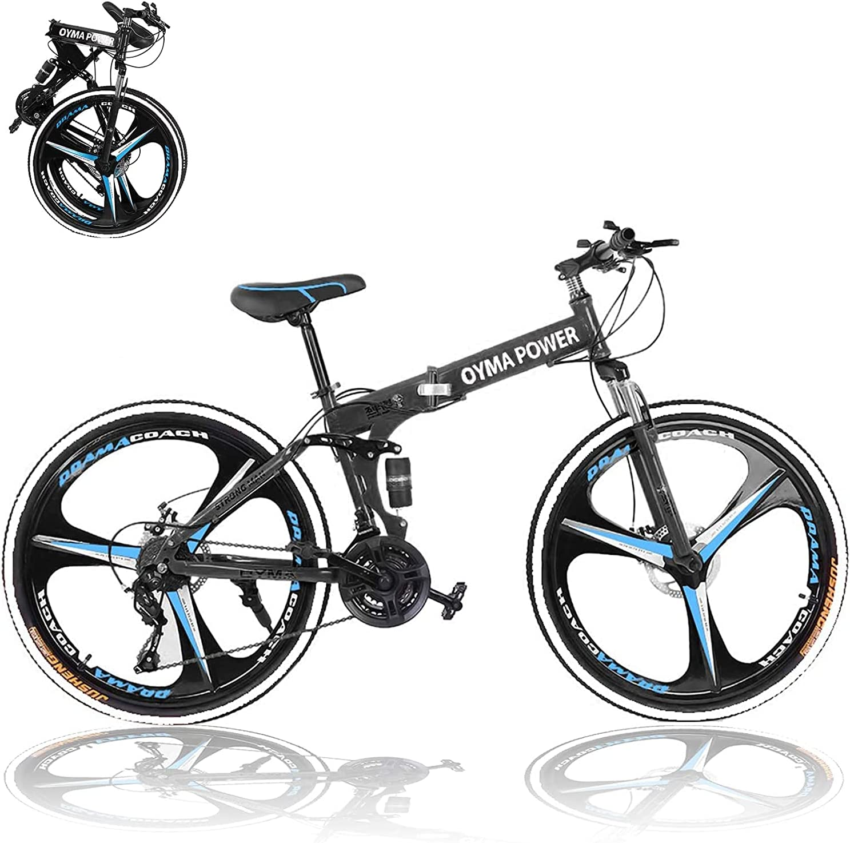 27.5In Folding Portland Mall Bicycle Mountain Bike - 21 Brakes Speed Fresno Mall Disc Dual