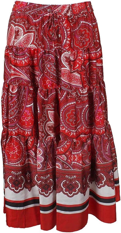 Lauren Ralph Lauren Womens Sateen Printed Maxi Skirt