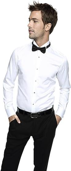 Caramelo, Camisa Ceremonia Slim Cuello Pajarita, Hombre ...