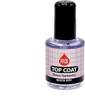 Excuse Me Quick Dry Fast Drying Super Shiny Nail Polish Top Coat 0.5 oz 15ml