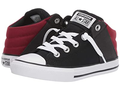 Converse Kids Chuck Taylor(r) All-Star(r) Axel Canvas + Textile Mid (Little Kid/Big Kid) (Black/Back Alley Brick/White) Boys Shoes