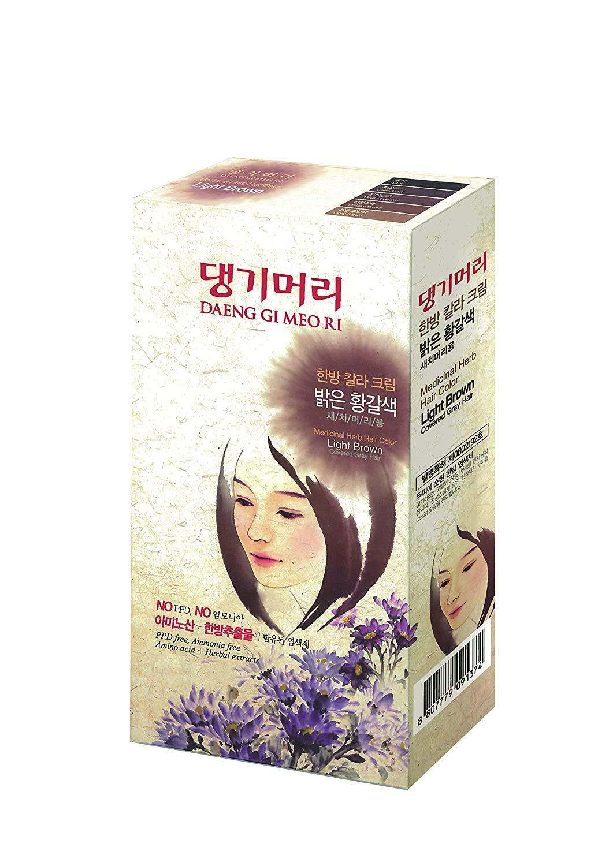 Daeng Gi Meo Ri Medicinal Herb Sacramento Mall Popular product Hair Brown Light 3 P Dye Color
