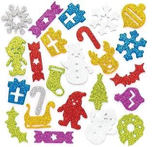 Paper Crafts Christmas MINI CHRISTMAS EPOXY Stickers 52 Pc