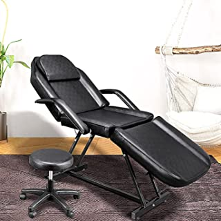 Sponsored Ad - Massage Salon Tattoo Chair with Hydraulic Stool, Multi-Purpose 3-Section Facial Bed Table, Adjustable Beaut...