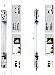 iPower 2-Pack 1000 Watt Double Ended Enhanced Performance Metal Halide MH Grow Light Lamp Bulb 6000K