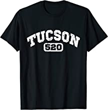 Tucson Arizona 520 Area Code T-Shirt Vintage