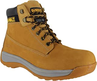 DeWalt Apprentice Mens SB Leather Safety Steel Toe Lace Up Boots UK 13 Yellow