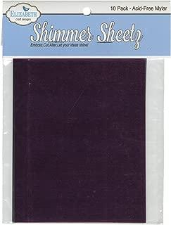 Elizabeth Craft Designs Metallic Mylar Shimmer Sheetz Sampler, 5 by 4-Inch, Multicolor, 10-Pack