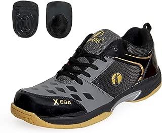 Feroc Grey Black Gel Series Badminton Shoes + Free Heel Gel