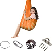 HINMAY ​ Indoor Therapy Swing for Kids Child and Teens, Soft Hammock Swing with Special Needs for Children Yoga Sensory In...